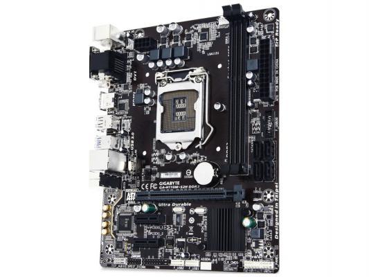 Мат. плата для ПК GigaByte GA-H110M-S2H DDR3 Socket 1151 H110 2xDDR3 1xPCI-E 16x 2xPCI-E 1x 4xSATAIII mATX Retail
