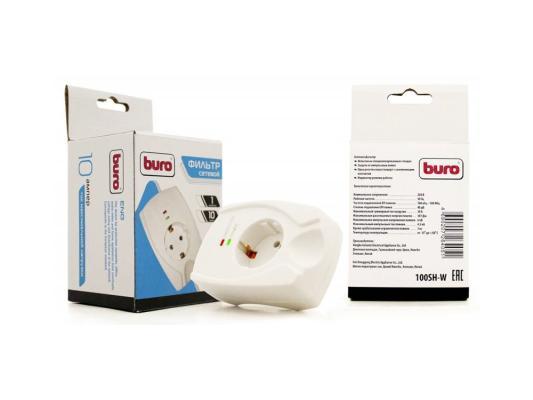 Сетевой фильтр BURO 100SH-W белый 1 розетка