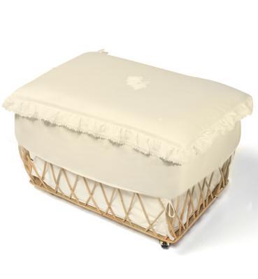 Плетеный ящик с крышкой Italbaby Sweet Angels ивовые прутья бежевый 650,0081-6