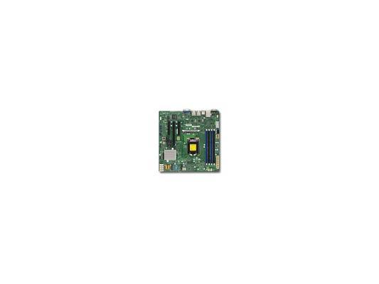 Мат. плата для ПК Supermicro MBD-X11SSL-F-O Socket 1151 C232 4xDDR4 1xPCI-E 4x 2xPCI-E 8x 6xSATAIII mATX Retail