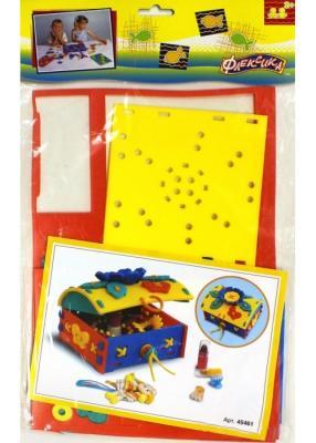 Шнуровка Флексика Сундучок 45461 развивающие игрушки флексика шнуровка букетик