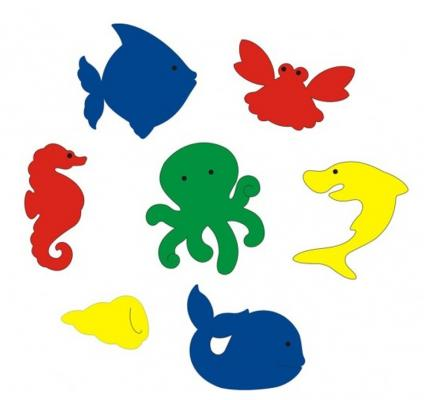 Набор для ванны Флексика Подводный мир игровой набор для игры в ванне лови рыбу crd 26x5x29см арт zyb b1068