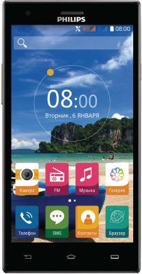 Смартфон Philips S616 черный 5.5 16 Гб LTE Wi-Fi GPS 3G Dark Grey смартфон philips s318 dark grey