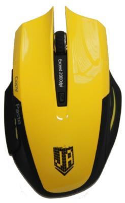 Мышь беспроводная Jet.A OM-U54G чёрный жёлтый USB