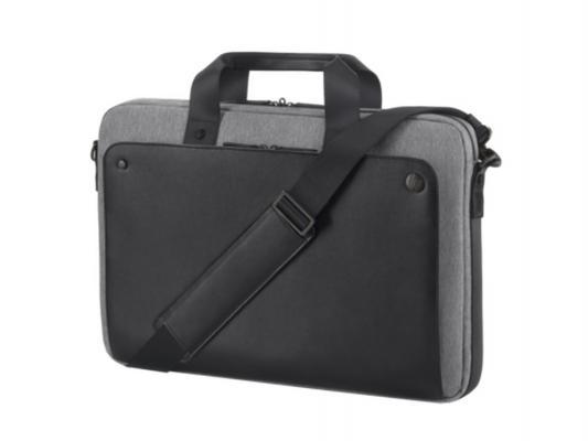 Сумка для ноутбука 15.6 HP Case Executive Black Top Load черный/серый P6N18AA