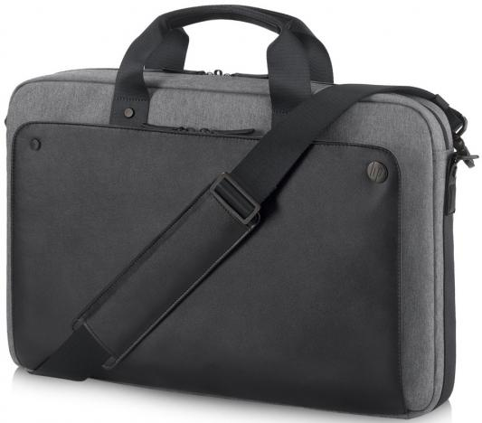 "Сумка для ноутбука 15.6"" HP Case Executive Black Slim Top Load черный/серый P6N20AA"