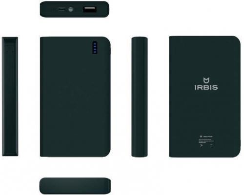 Портативное зарядное устройство Irbis 10000мАч черный PB1C30