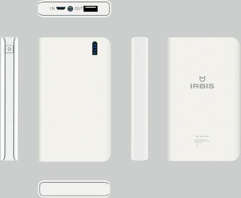 Портативное зарядное устройство Irbis 10000мАч белый PB1C35
