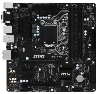 Мат. плата для ПК MSI H170M-A PRO Socket 1151 H170 4xDDR4 2xPCI-E 16x 2xPCI-E 1x 6xSATAIII mATX Retail
