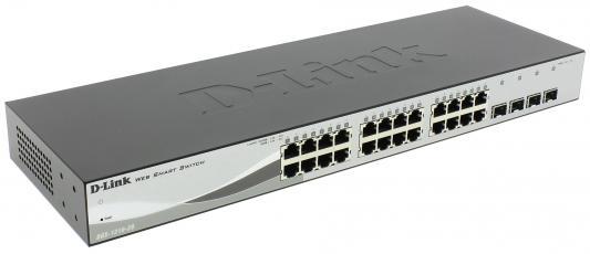 Коммутатор D-Link DES-1210-28/C1A управляемый 24 порта 10/100Mbps коммутатор zyxel xgs2210 28 управляемый 24 порта