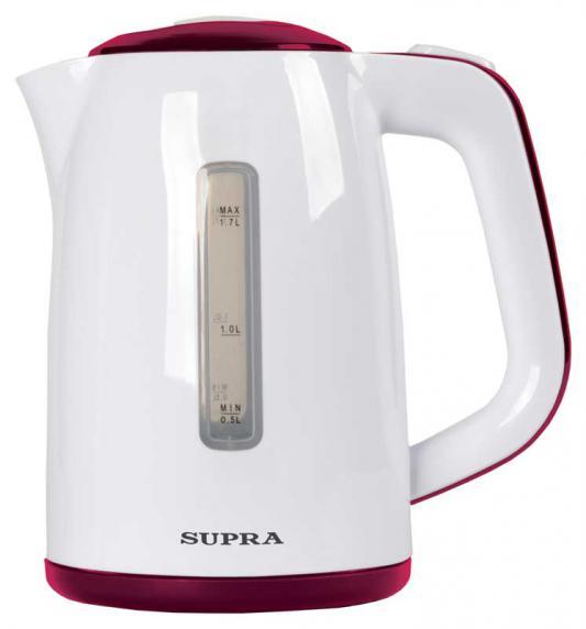 Чайник Supra KES-1728 2200 Вт белый красный 1.7 л пластик