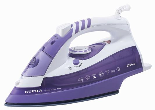 Утюг Supra IS-2201 2200Вт бело-фиолетовый утюг supra is 2605 2600вт фиолетовый