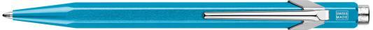 Шариковая ручка автоматическая Caran D'Ache Office Popline Metal-X синий M 849.671