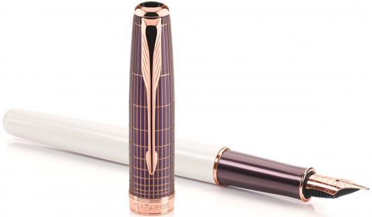 Перьевая ручка Parker Sonnet F536 Contort Purple Cisele F 1930055