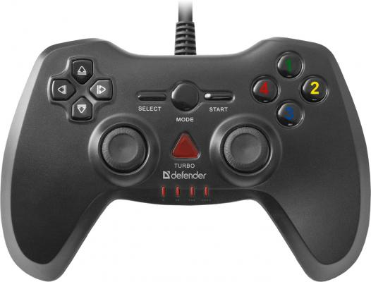 Геймпад Defender Archer USB-PS2/3 64248 геймпад проводной defender archer [pc ps2 ps3] black черный