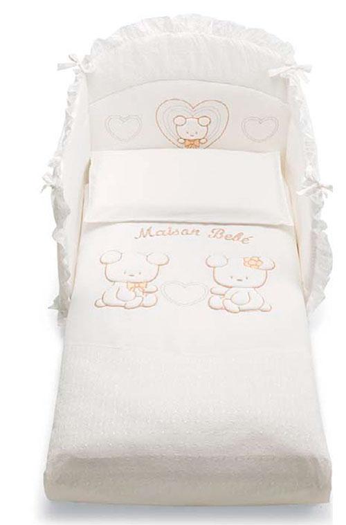 Сменное постельное белье 3 предмета Pali Smart Maison Bebe (белый)