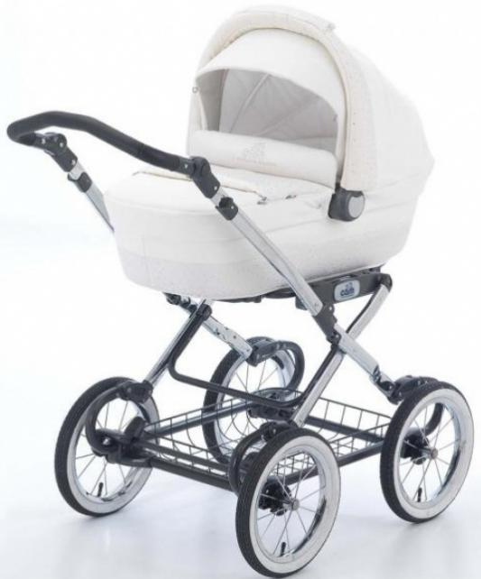 Коляска для новорожденного Cam Linea Elegant Exclusive (цвет 312/эко-кожа+кристаллы)