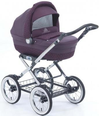 Коляска для новорожденного Cam Linea Elegant Exclusive (цвет 265/эко-кожа+кристаллы)