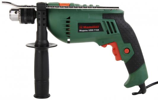 Дрель ударная Hammer UDD710A 710Вт дрель ударная hammer udd710с premium