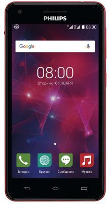 """Смартфон Philips Xenium V377 красный черный 5"""" 8 Гб Wi-Fi GPS"""