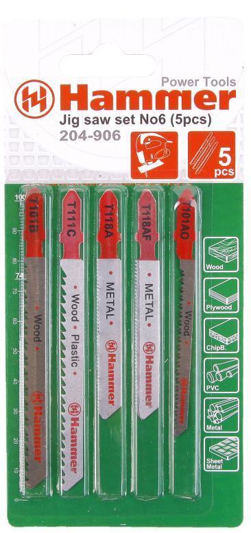 Лобзиковая пилка Hammer Flex 204-906 5шт от 123.ru