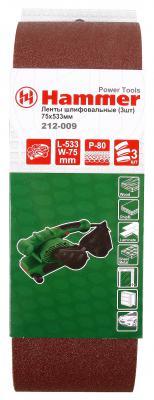 Лента шлифовальная Hammer Flex 212-009 75х533 Р80 29399
