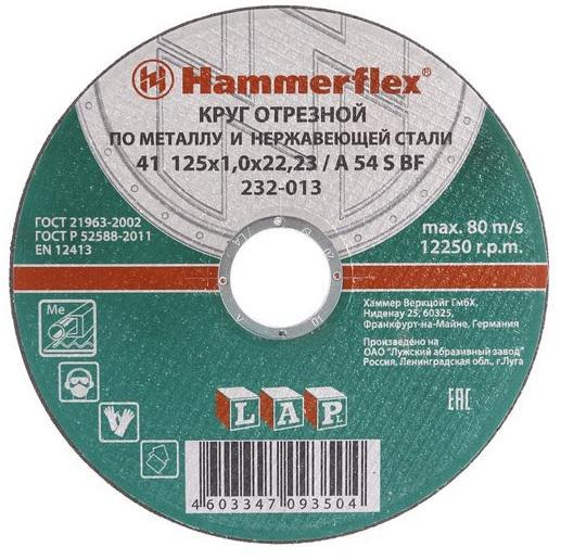 Отрезной круг Hammer 232-013 по металлу 86893