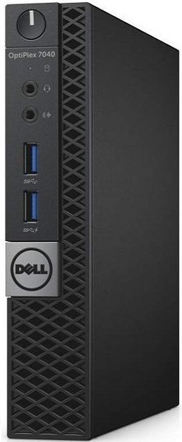 Системный блок Dell Optiplex 7040 Micro i7-6700T 3.2GHz 8Gb 500Gb HDG530 DVD-RW Win7Pro клавиатура мышь серебристо-черный 7040-8564  Optiplex 7040