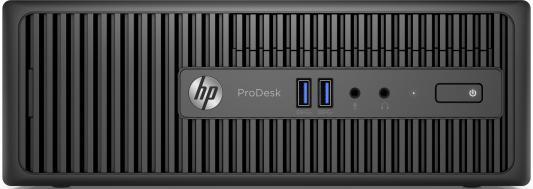 Системный блок HP ProDesk 400 G3 SFF i3-6100 3.7GHz 4Gb 1Tb HDG4400 DVD-RW DOS клавиатура мышь черный T4R77EA