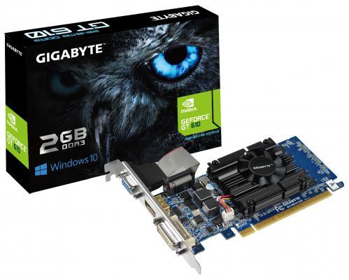 Видеокарта 2048Mb Gigabyte GeForce GT610 PCI-E DVI HDMI CRT HDCP GV-N610-2GI Retail
