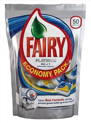 Средство Fairy Platinum All in 1 для мытья посуды для посудомоечных машин 50шт 80232615