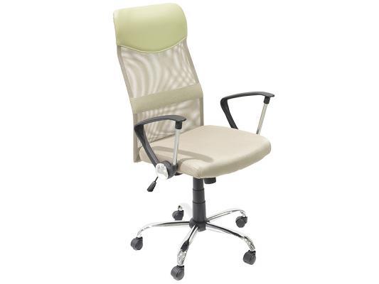 Кресло руководителя College H-935L-2 ткань крестовина хромированный металл подлокотники пластик бежевый