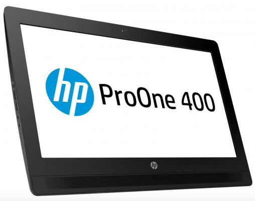 "Моноблок HP ProOne 400 G2 20"" 1600x900 G4400T 2.9GHz 4Gb 500Gb HD530 DVD-RW DOS клавиатура мышь серебристый T4R55EA"
