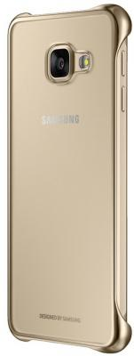 Чехол Samsung EF-QA710CFEGRU для Samsung Galaxy A7 Clear Cover A710 золотистый mooncase senior leather flip wallet card slot bracket back чехол для cover samsung galaxy a7 браун