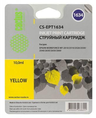 Картридж Cactus CS-EPT1634 для Epson WF-2010/2510/2520/2530/2540/2630/2650/2660 желтый cactus cs ept1634 yellow картридж струйный для epson wf 2010 2510 2520 2530 2540 2630 2650 2660