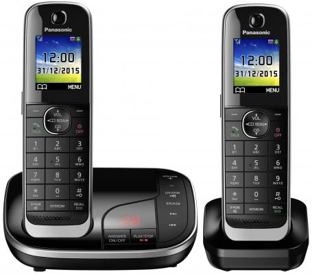 Радиотелефон DECT Panasonic KX-TGJ322RUB черный радиотелефон panasonic kx prx120ruw черный