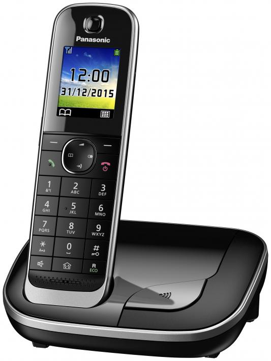 Фото Радиотелефон DECT Panasonic KX-TGJ310RUB черный радиотелефон dect panasonic kx tgj320rub черный