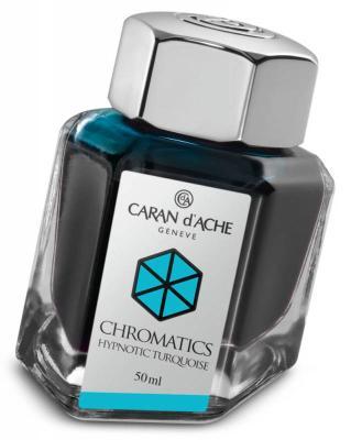 Флакон с чернилами Carandache Chromatics Hypnotic Turquoise чернила бирюзовый 50мл 8011.191
