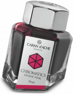 Флакон с чернилами Carandache Chromatics Divine Pink чернила розовый 50мл 8011.080