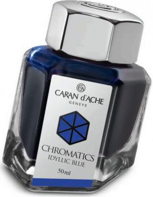 Флакон с чернилами Carandache Chromatics Iddyllic Blue чернила синий 50мл 8011.140