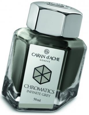 Флакон с чернилами Carandache Chromatics Infinite Grey чернила серый 50мл 8011.005