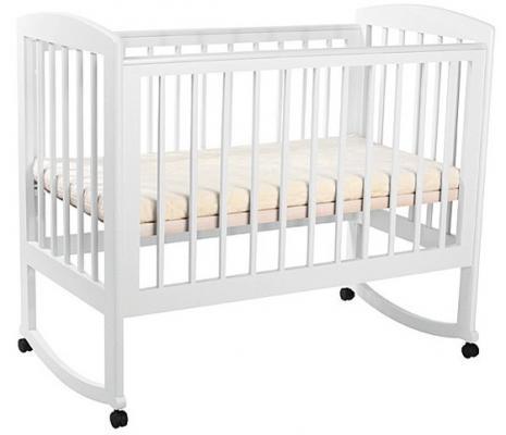Кроватка-качалка Лель Ромашка АБ 16.0 (белый) кроватка качалка лель ромашка аб 16 0 орех светлый