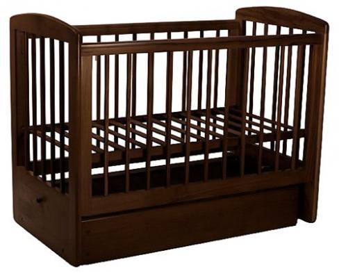 Кроватка с маятником Лель Ромашка АБ16.2 (махагон)