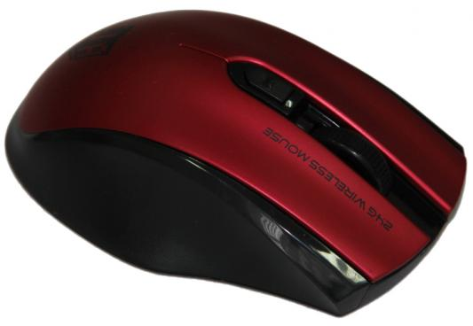 лучшая цена Мышь беспроводная Jet.A OM-U50G чёрный красный USB