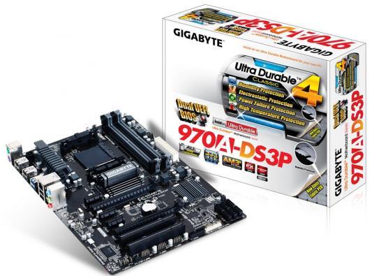 Мат. плата для ПК GigaByte GA-970A-DS3P Socket AM3+ AMD 970 4xDDR3 2xPCI-E 16x 2xPCI 3xPCI-E 1x 6xSATAIII ATX OEM