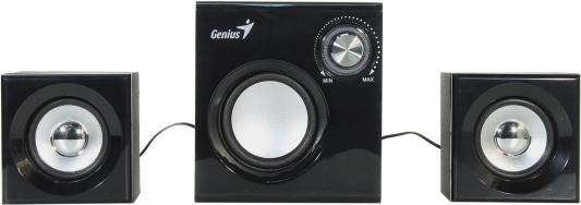 Колонки Genius SW-2.1 370 2x1 + 6 Вт черный колонки genius колонки sw 2 1 375