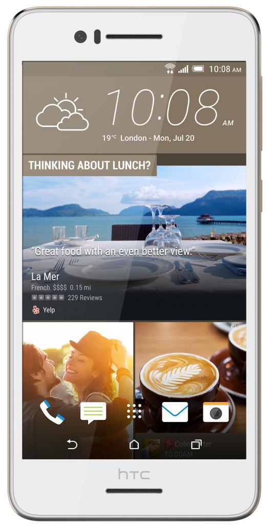 "Смартфон HTC Desire 728G Dual белый 5.5"" 16 Гб Wi-Fi GPS"