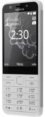 Мобильный телефон NOKIA 230 Dual Sim белый (A00026972) мобильный телефон nokia 230 dual sim blue