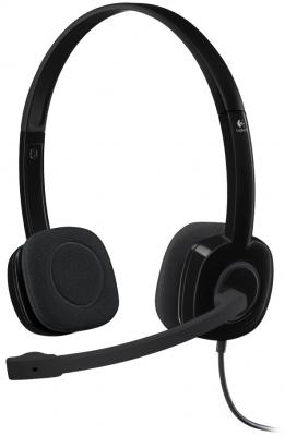 все цены на Гарнитура Logitech Stereo Headset H151 черный 981-000589 онлайн