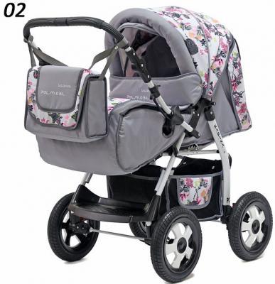 Коляска прогулочная Polmobil Karina (02/серый-розовый)